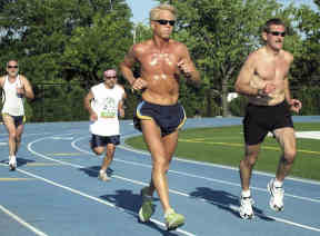 Running with your pace group.